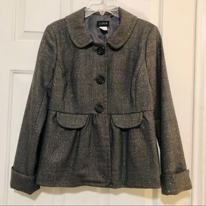 J. Crew Grey Wool Coat Size 0✨✨